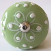 Möbelknöpfe/Porzellanknöpfe rund -  grün - 29