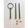 Etagere Metall-Stangen - Rund grün