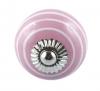 Möbelknöpfe/Porzellanknöpfe Streifen rosa - 3