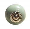 Möbelknöpfe/Porzellanknöpfe rund - uni- mint - 32