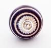 Möbelknöpfe/Porzellanknöpfe Streifen  - purple - 35