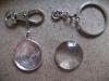 Schlüsselanhänger mit Cabochon - rund silber