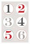 Sticker Zahlen 1-24