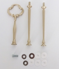 Etagere Metall-Stangen - Barock gold matt