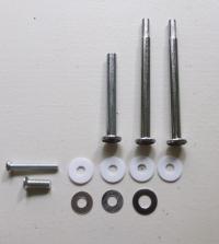 Etagerestangen für Möbel/Porzellanknöpfe silber mini (Set)