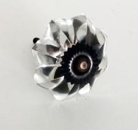 Möbelknöpfe/Porzellanknöpfe blumeform - glas - 25