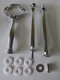 Etagere Metall-Stangen - Barock silber matt