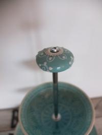 Etagerestangen für Möbel/Porzellanknöpfe silber (einzelne Stange, gross)