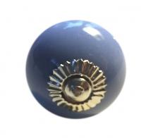 Möbelknöpfe/Porzellanknöpfe rund - uni - lavendel - 12