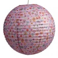 Papierlampenschirm Blumenmotiv