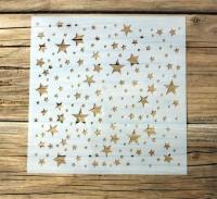 Schablone Muster - Sterne