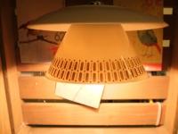 Tassenlampe weiss/gold