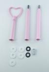 Etagere Metall-Stangen - Herz pink