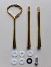 Etagere Metall-Stangen - Geschwungen gold
