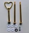 Etagere Metall-Stangen - Herz gold