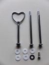 Etagere Metall-Stangen - Herz silber