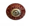 Möbelknöpfe/Porzellanknöpfe rund - bordeaux  - 13