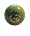Möbelknöpfe/Porzellanknöpfe rund - grün - 20