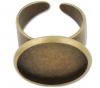 Ring  mit Cabochon - bronze