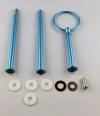 Etagere Metall-Stangen - Rund blau