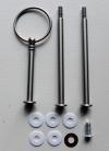 Etagere Metall-Stangen - Rund silber MATT