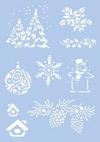 Schablone mit Weihnachts-Motiv