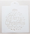 Schablone Muster -merry christmas - 24