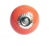 Möbelknöpfe/Porzellanknöpfe rund - orange - 20