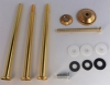 Etagerestangen für Möbel/Porzellanknöpfe gold (Set)