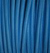 Textilkabel blau, 2-adrig rund, 2x0,75