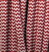 Textilkabel rot/weiss, 2-adrig rund, 2x0,75